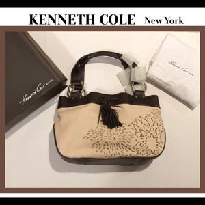 Kenneth Cole New York beige & brown bag